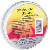 "3m™ Scotch® Vinyl Electrical Color Coding Tape 35-Gray, 3/4"" X 66', 80610834063 - Pkg Qty 10"