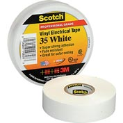 "3M Scotch® Vinyl Electrical Color Coding Tape 35-White, 3/4"" X 66', 80610833982"