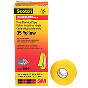 "3M Scotch® Vinyl Electrical Color Coding Tape 35-Yellow, 3/4"" X 66', 80610833966 - Pkg Qty 10"