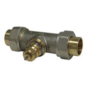 "Radiator or baseboard valve body - 1/2"" solder/union straight for 2-pipe steam"