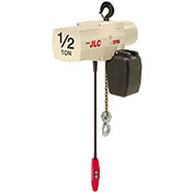 Coffing JLC Electric Chain Hoist With Chain Container, 1/2 Ton Cap., 20 Ft. Lift, 16 Fpm 115/230V