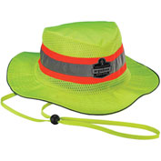 12593 Chill-Its® 8935MF Evaporative Headwear Hi-Vis Ranger Hat w/MF, Lime, S/M