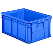 "Schaefer Stacking Transport Container 14/6-1 PL - 25""L x 18""W x 12""H, Blue"