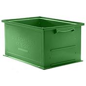 "Schaefer Stacking Transport Container 14/6-2 H PL - 18""L x 12""W x 5""H - Green"