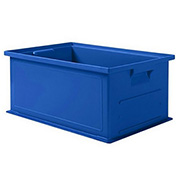 "Schaefer Stacking Transport Container 14/6-2 PL- 18""L x 12""W x 8""H - Blue"