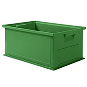 "Schaefer Stacking Transport Container 14/6-2 PL - 18""L x 12""W x 8""H - Green"