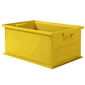 "Schaefer Stacking Transport Container 14/6-2 PL - 18""L x 12""W x 8""H - Yellow"