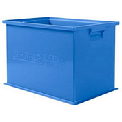 "Schaefer Stacking Transport Container 14/6-2 Z PL - 18""L x 12""W x 12""H - Blue"