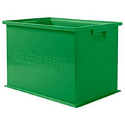 "Schaefer Stacking Transport Container 14/6-2 Z PL - 18""L x 12""W x 12""H - Green"