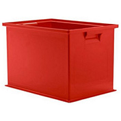 "Schaefer Stacking Transport Container 14/6-2 Z PL - 18""L x 12""W x 12""H- Red"