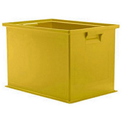 "Schaefer Stacking Transport Container 14/6-2 Z PL - 18""L x 12""W x 12""H - Yellow"