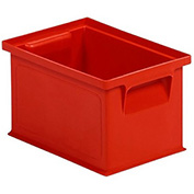 """Schaefer Stacking Transport Container 14/6-4 PL - 8""""L x 6""""W x 5""""H - Red"""