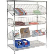 "Adjustable Wire Bin Rack - 48""W x 18""D x 63""H"