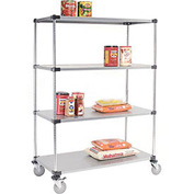 Nexel® Galvanized Shelf Truck 72x18x80 1200 Pound Capacity With Brakes