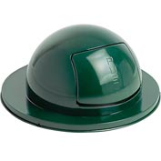 Rubbermaid® 1855 Steel 55 Gallon Self-Closing Dome Drum Top - Green