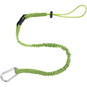"Ergodyne® 19075 Squids® 3102 42""-54"" Detachable Single Carabiner, 5lbs Max, Lime, Nylon - Pkg Qty 6"