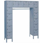Lyon Locker DD5-990SU 16 Person 69x18x78 - 16 Doors Hasp Handle Assembled Gray