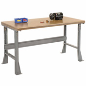 "60""W X 30""D X 34""H Shop Top Safety Edge Workbench - Gray"