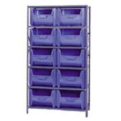 Quantum QSBU-700 Shelving With 10 Giant Hopper Bins Blue, 42x18x75