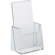 "Azar Displays 252012 Countertop Tri-Fold Brochure Holder, 4"" x 7.25"", 25-Pack"