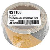 "INCOM® Safety Tape Reflective Striped Yellow/Black, 3""W x 30'L, 1 Roll"