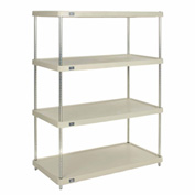 "Plastic Shelving Unit 48""Wx24""Dx63""H Solid Shelf"