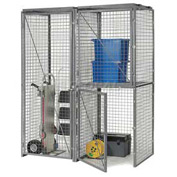 Bulk Storage Locker Back Panel 4'W For Single Or Double Tier