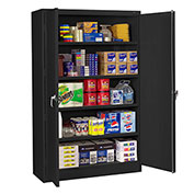 "Tennsco 48""W Jumbo Storage Cabinet - 48X18X78"" - All-Welded - Black"
