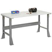 "48""W X 30""D X 34""H ESD Square Edge Workbench - Gray"
