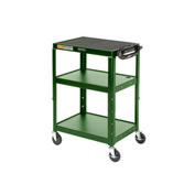 Green Steel Audio Visual & Instrument Cart