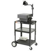 Black Big Wheel Steel Audio Visual & Instrument Cart