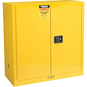 "Global&#8482 Flammable Liquid Cabinet - 30 Gallon - Manual Close Double Door - 43""W x 18""D x 44""H"