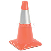 "18"" Traffic Cone W/ Custom Imprinting, Reflective, Orange, 3 lbs, 1850-00-M-L - Pkg Qty 50"