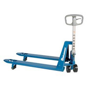 Bishamon® BS-55 Blue Label™ Narrow Fork Pallet Jack Truck 5500 Lb. Capacity 21 x 36