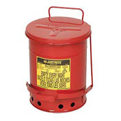 6 Gallon Justrite Oily Waste Can - Red