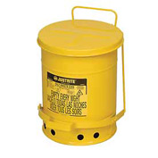 6 Gallon Justrite Oily Waste Can - Yellow