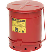 14 Gallon Justrite Oily Waste Can - Red