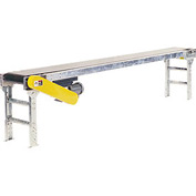"Omni Metalcraft Powered 20""W x 10'L Belt Conveyor without Side Rails BHSE20-0-12-F60-0-0.5-4"
