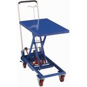 Best Value Mobile Scissor Lift Table with Folding Handle 330 Lb. Capacity - 27 x 17 Platform
