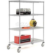 Nexelate Wire Shelf Truck 72x24x69 1200 Pound Capacity With Brakes