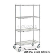 Nexelate Wire Shelf Truck 36x24x80 1200 Pound Capacity