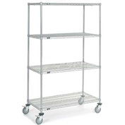 Nexel® Chrome Wire Shelf Truck 48x24x80 1200 Pound Capacity
