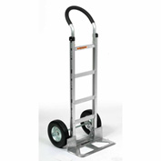 Global Aluminum Hand Truck - Curved Handle - Semi-Pneumatic Wheels