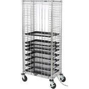 Nexel® Side Load Wire Tray Truck with 39 Tray Capacity