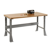 "60""W X 30""D X 34""H Shop Top Square Edge Workbench - Gray"