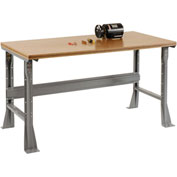 "72""W X 30""D X 34""H Shop Top Square Edge Workbench - Gray"