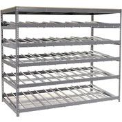 "Carton Flow Shelving Single Depth 5 LEVEL 96""W x 48""D x 84""H"
