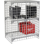 Wire Mesh Security Cage - Ventilated Locker -  36 x 24 x 36