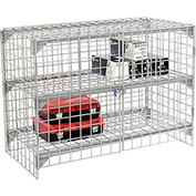 Wire Mesh Security Cage - Ventilated Locker -  48 x 24 x 36