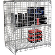 Wire Mesh Security Cage - Ventilated Locker -  48 x 36 x 60